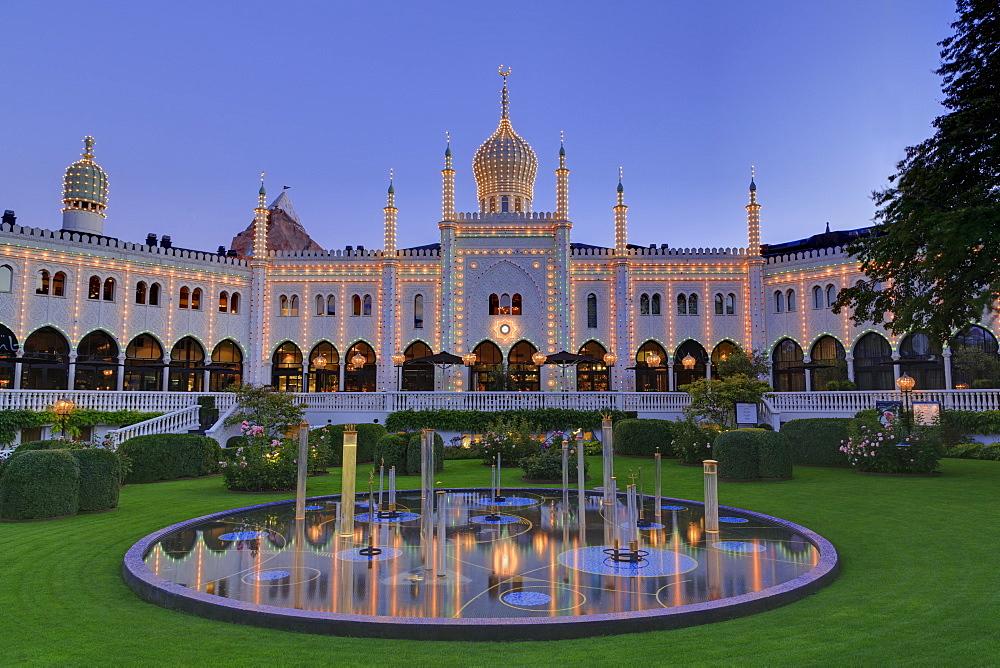Nimb building, Tivoli Gardens, Copenhagen, Zealand, Denmark, Europe