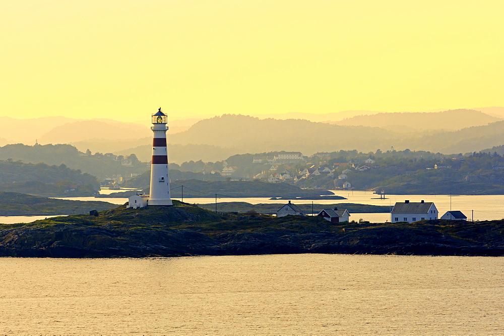 Oksoy Lighthouse, Kristiansand, Agder County, Norway, Scandinavia, Europe