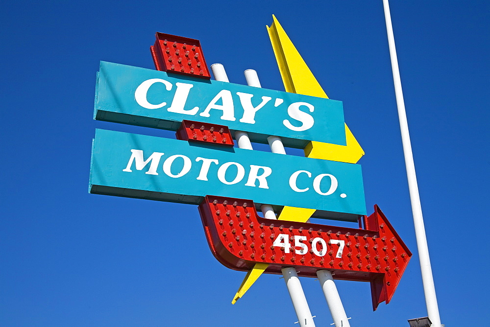 Clay's Motor Company, Historic Route 66, Downtown Tulsa, Oklahoma, United States of America, North America