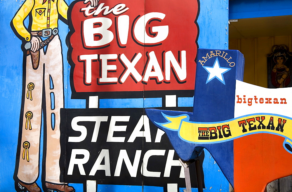 Big Texan Steak Ranch, Historic Route 66, Amarillo, Texas, United States of America, North America - 776-649