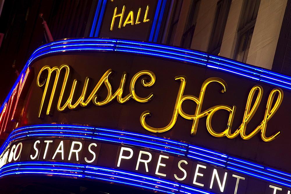Radio City Music Hall, Theater District, Midtown Manhattan, New York City, New York, United States of America, North America - 776-680