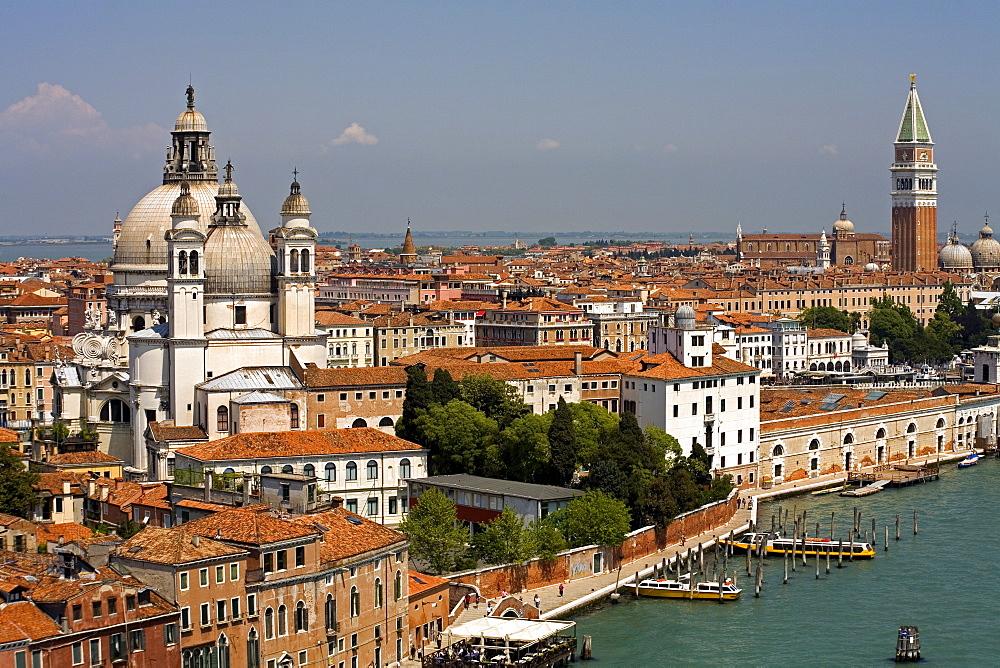 Santa Maria della Salute church, Dorsoduro district, Venice, UNESCO World Heritage Site, Veneto, Italy, Europe - 776-799