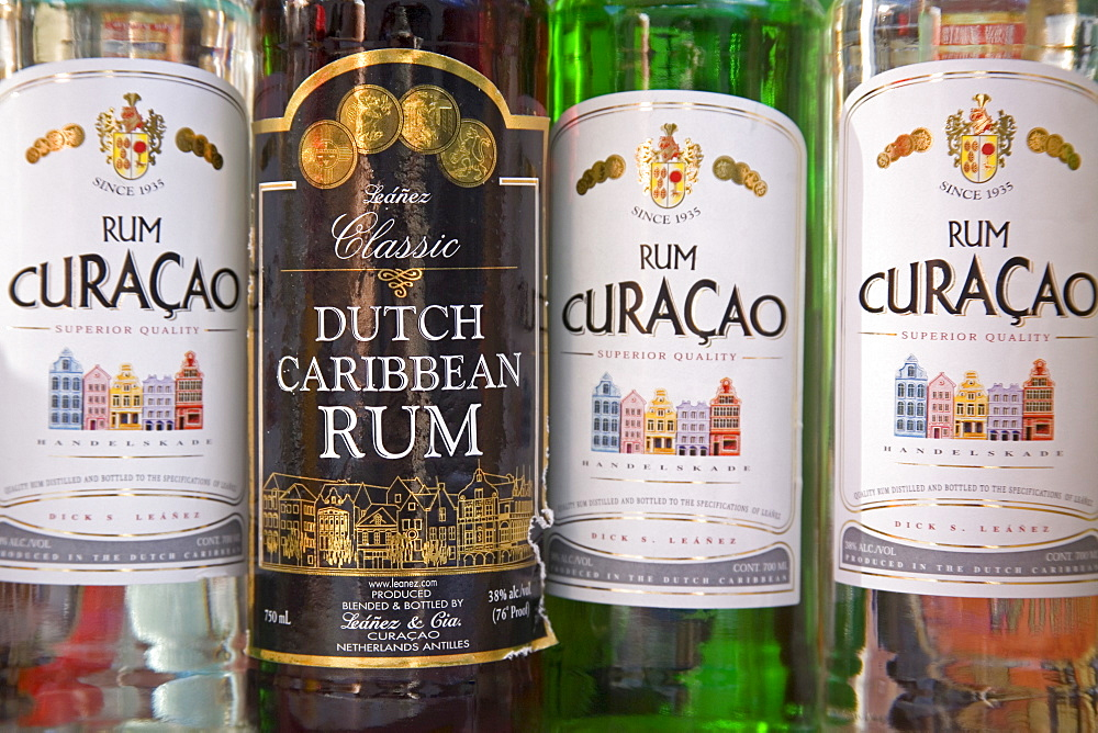 Curacao Rum Bottles, Willemstad, Curacao, Netherlands Antilles, West Indies, Caribbean, Central America