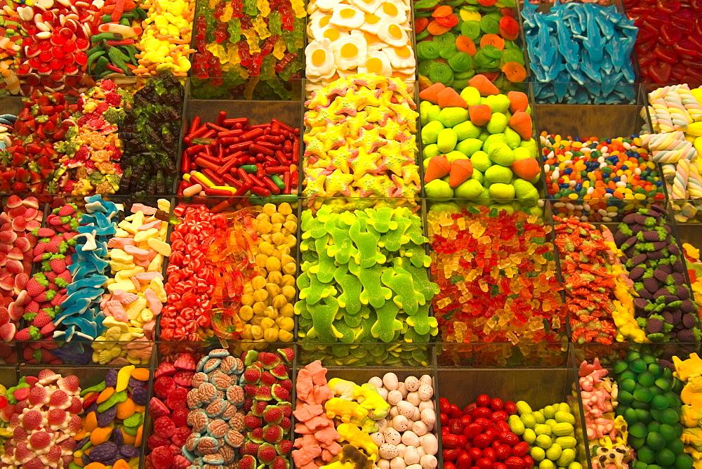 La Boqueria food market, La Rambla street, City of Barcelona, Catalonia, Spain, Europe - 776-884