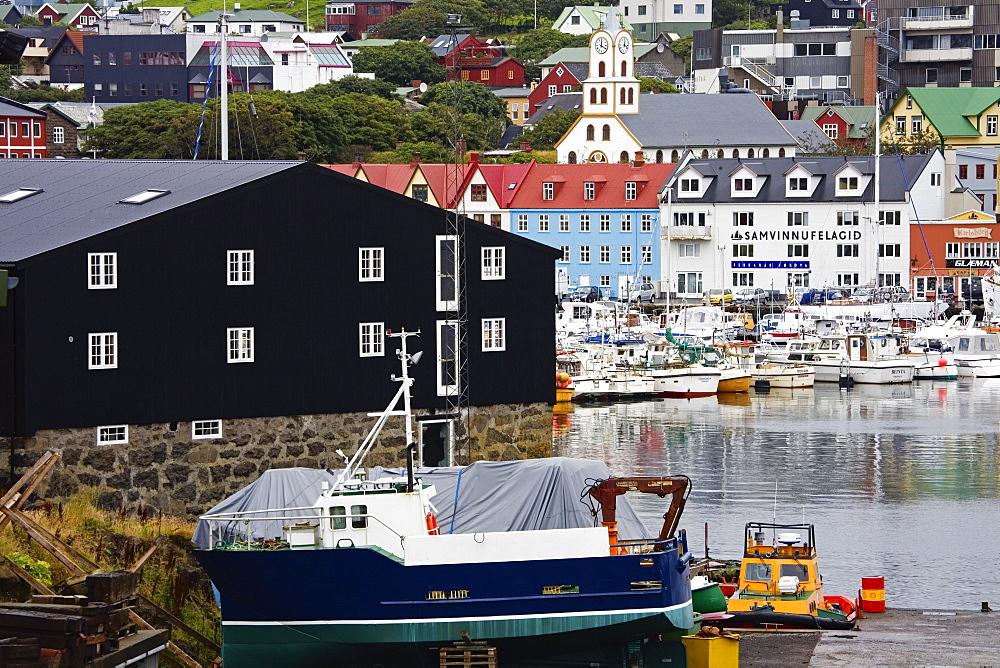 Dry dock, Port of Torshavn, Faroe Islands (Faeroes), Kingdom of Denmark, Europe - 776-946