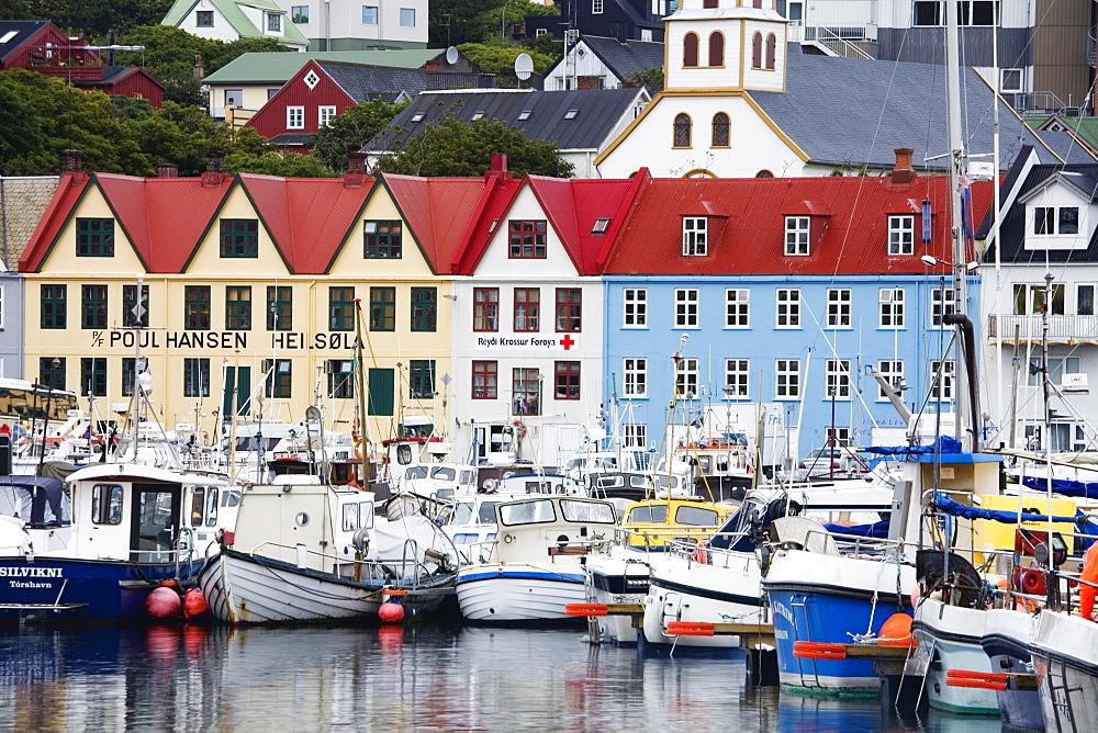 Fishing Fleet, Port of Torshavn, Faroe Islands (Faeroes), Kingdom of Denmark, Europe - 776-947