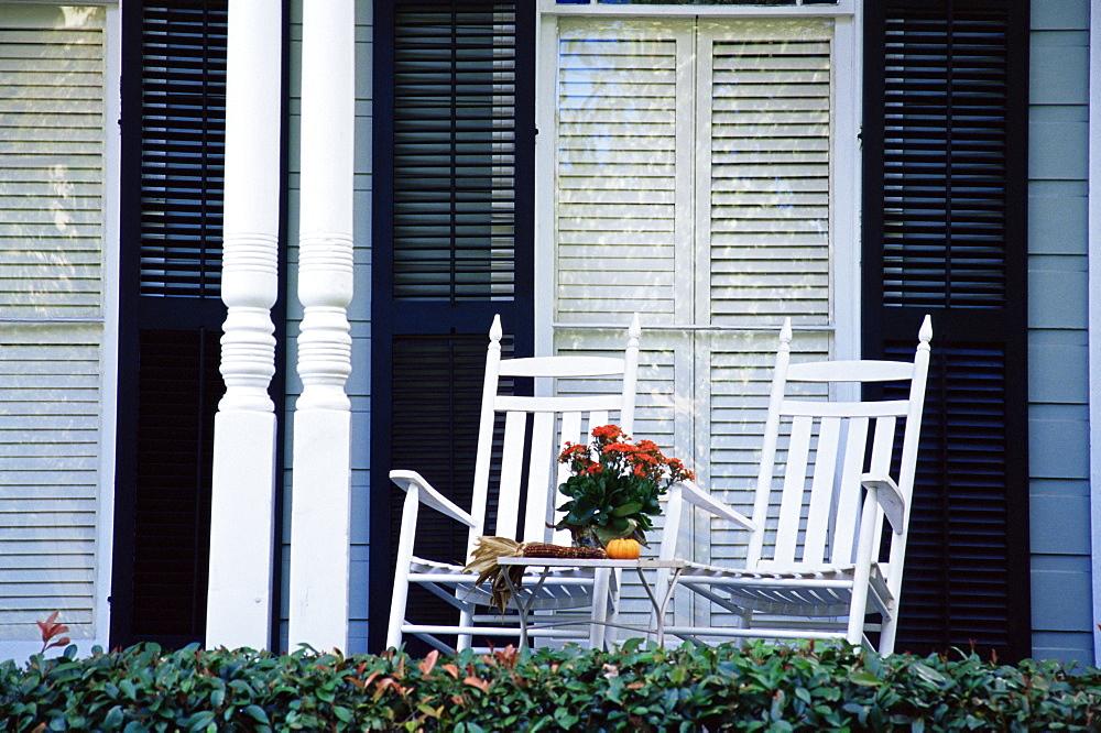 Porch, Garden District, New Orleans, Louisiana, United States of America, North America
