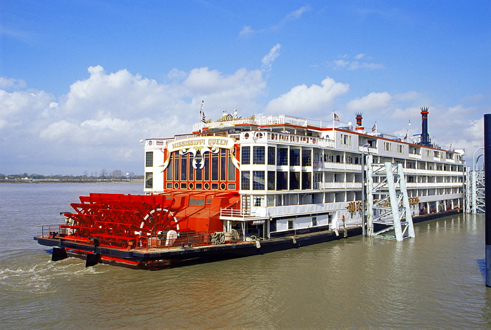 Mississippi Queen paddle steamer, Baton Rouge, Louisiana, United States of America, North America