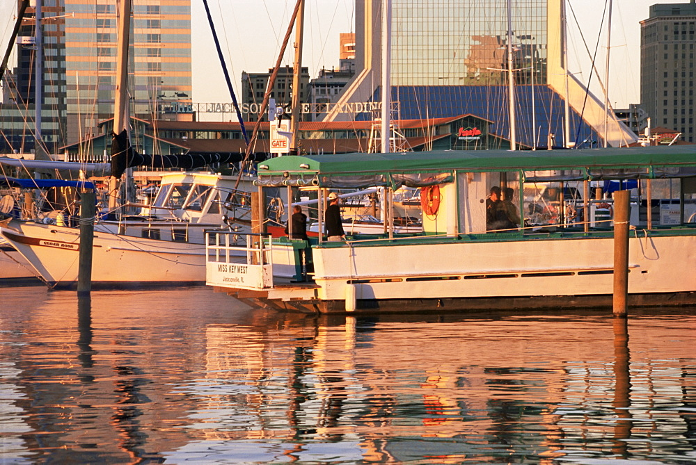 Downtown boat marina, Jacksonville, Florida, United States of America, North America