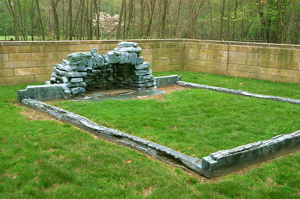 Cabin Site Memorial, Lincoln Boyhood National Memorial, Indiana, United States of America, North America