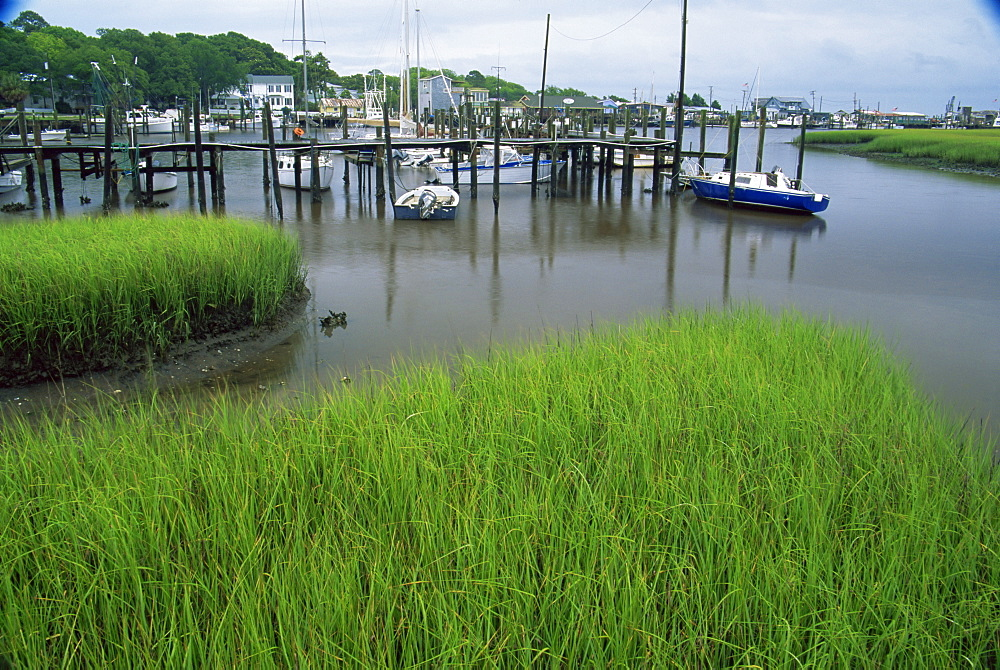 Southport Marine Village, Wilmington region, North Carolina, United States of America, North America