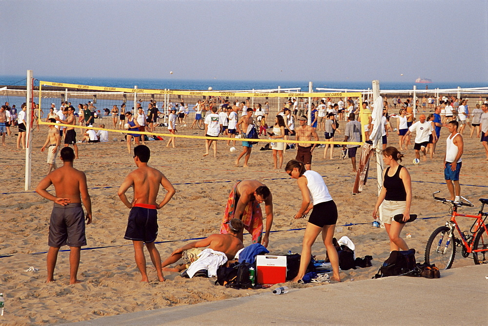Volleyball, North Avenue Beach, Chicago, Illinois, United States of America, North America