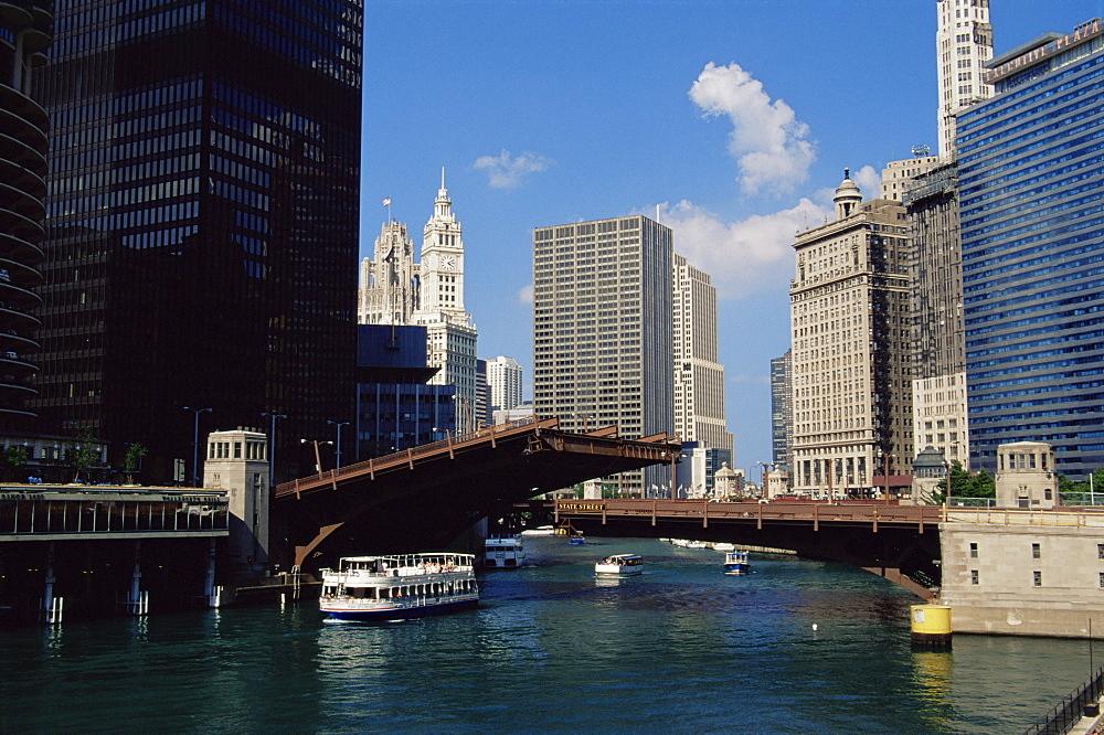 State Street Bridge, Chicago, Illinois, United States of America, North America