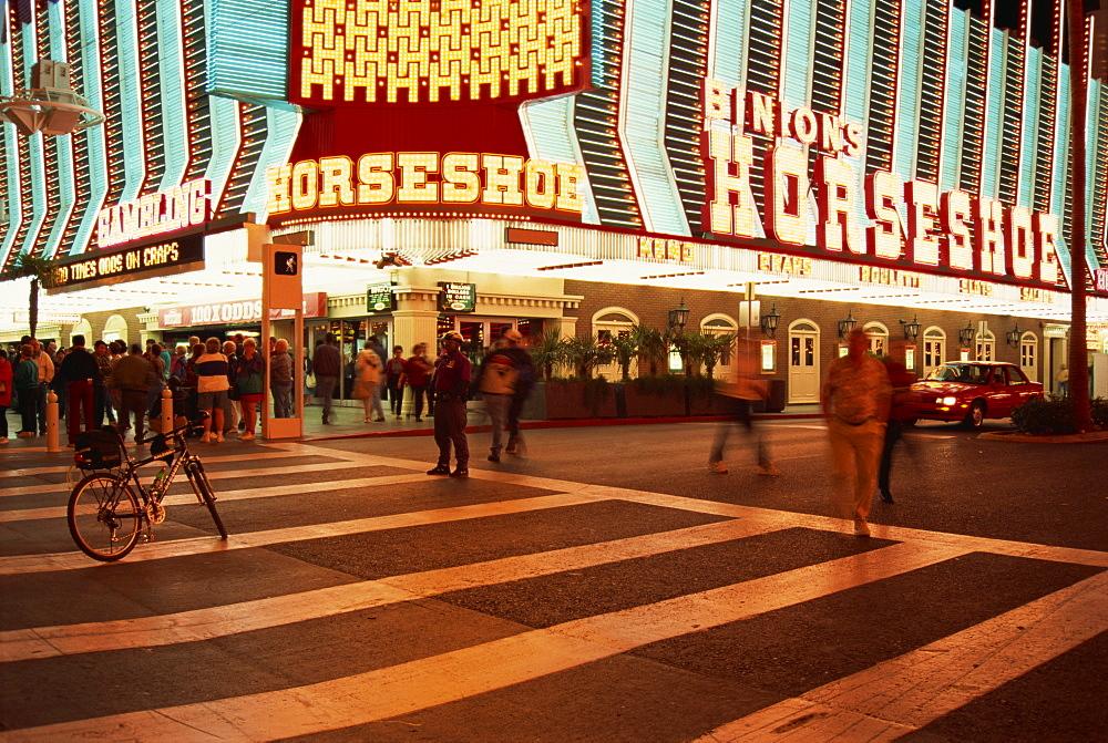 Horseshoe Casino, Fremont Street, Downtown, Las Vegas, Nevada, United States of America, North America