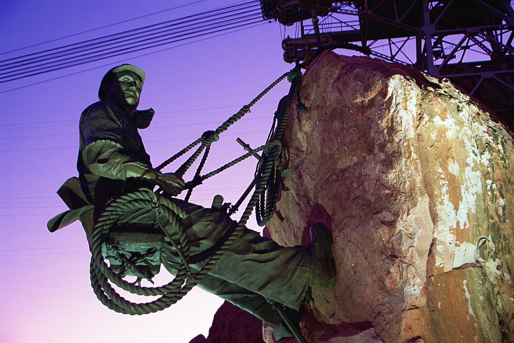 High Scaler sculpture, Hoover Dam, Nevada, United States of America, North America