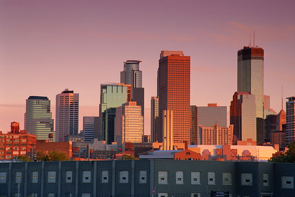 City skyline, Minneapolis, Minnesota, United States of America, North America