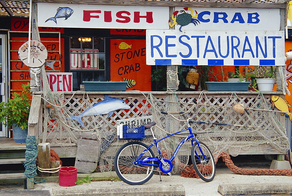 Fish restaurant, Port Aransas, Corpus Christi Bay, Texas, United States of America, North America - 777-1587