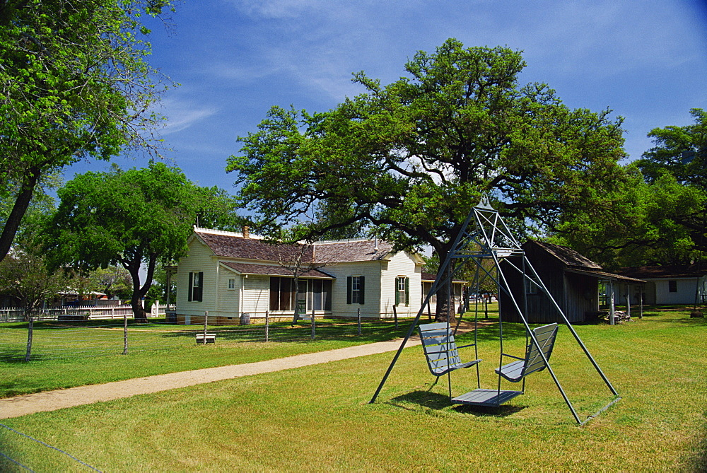 President Johnson's boyhood home, Johnson City, Greater Austin area, Texas, United States of America, North America