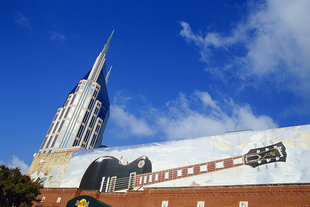 Hard Rock cafe and Bell South Tower, Nashville, Tennessee, United States of America, North America