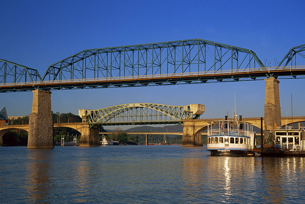 Walnut Street Bridge, Chattanooga, Tennessee, United States of America, North America