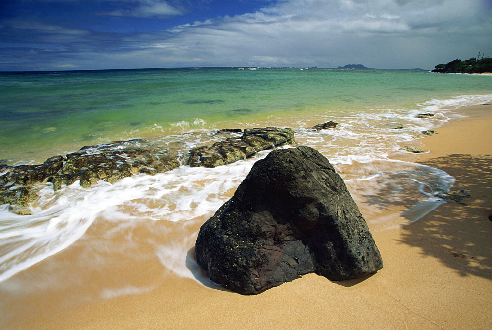 Kanenelu Beach, Windward Shore, Oahu island, Hawaii, United States of America, Pacific, North America