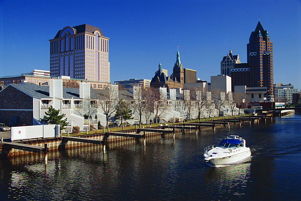 Milwaukee River, Downtown Milwaukee, Wisconsin, United States of America, North America