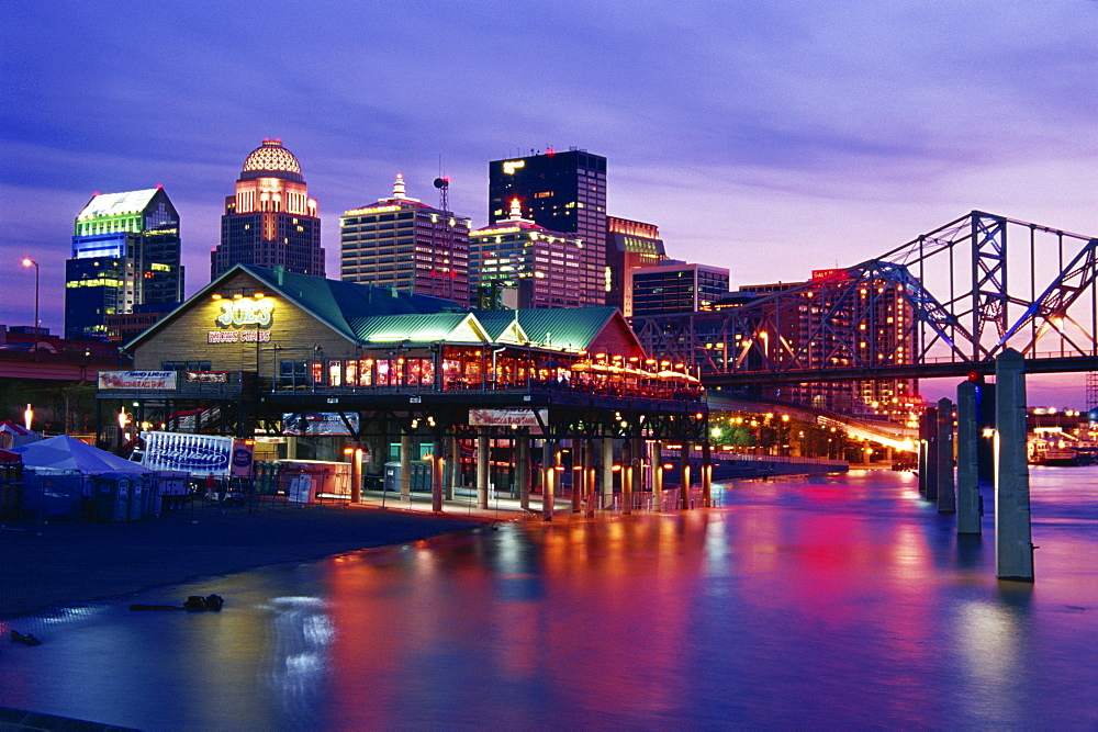 City skyline, Louisville, Kentucky, United States of America, North America