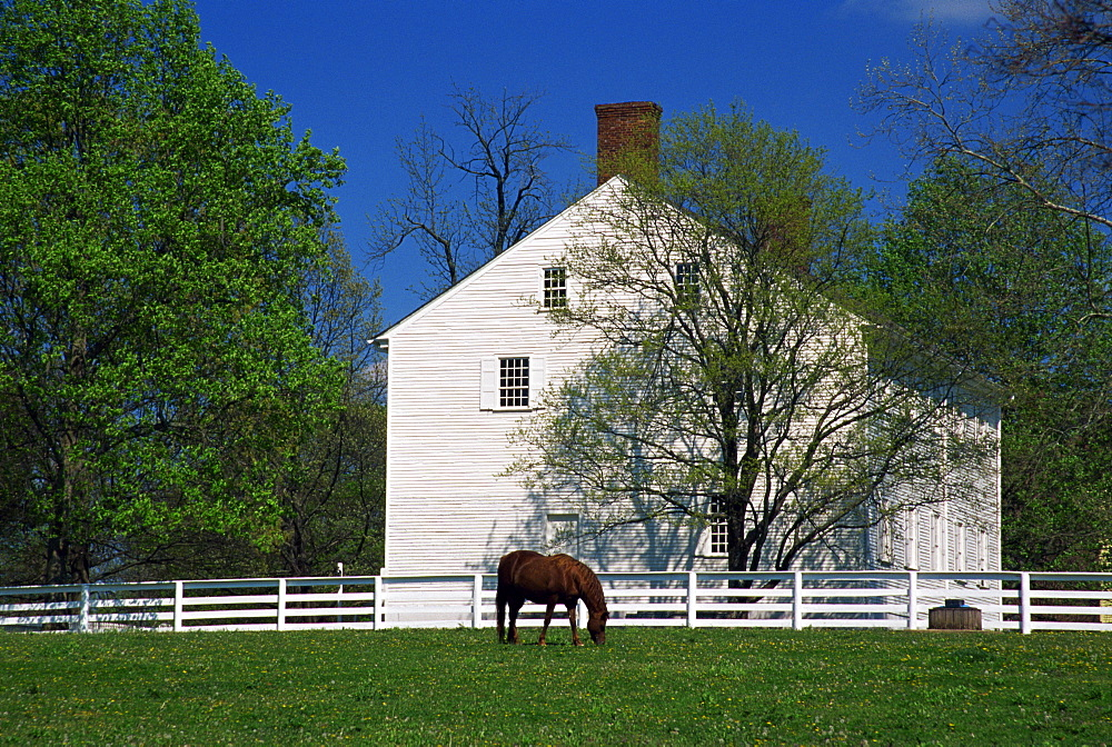 Meeting House, Shaker village of Pleasant Hill, Lexington area, Kentucky, United States of America, North America