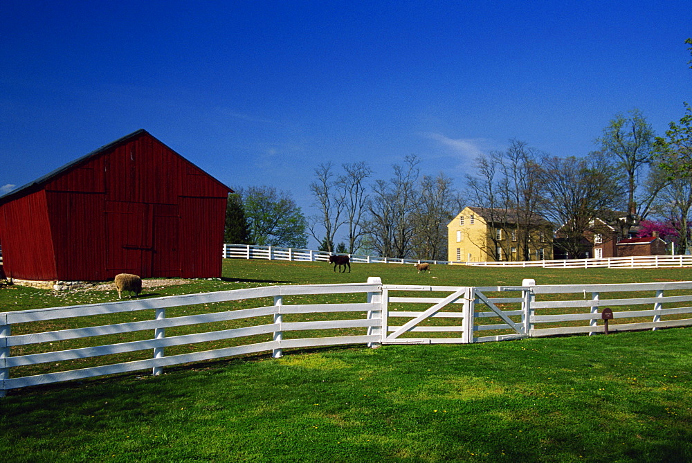 Shaker village of Pleasant Hill, Lexington area, Kentucky, United States of America, North America