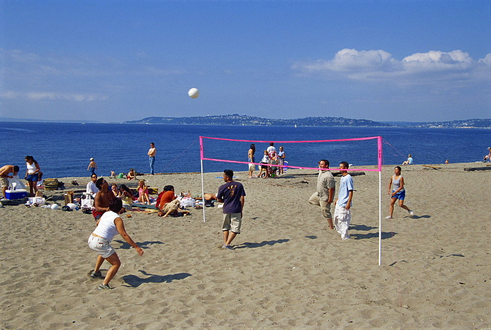 Alki Beach, West Seattle, Washington state, United States of America, North America