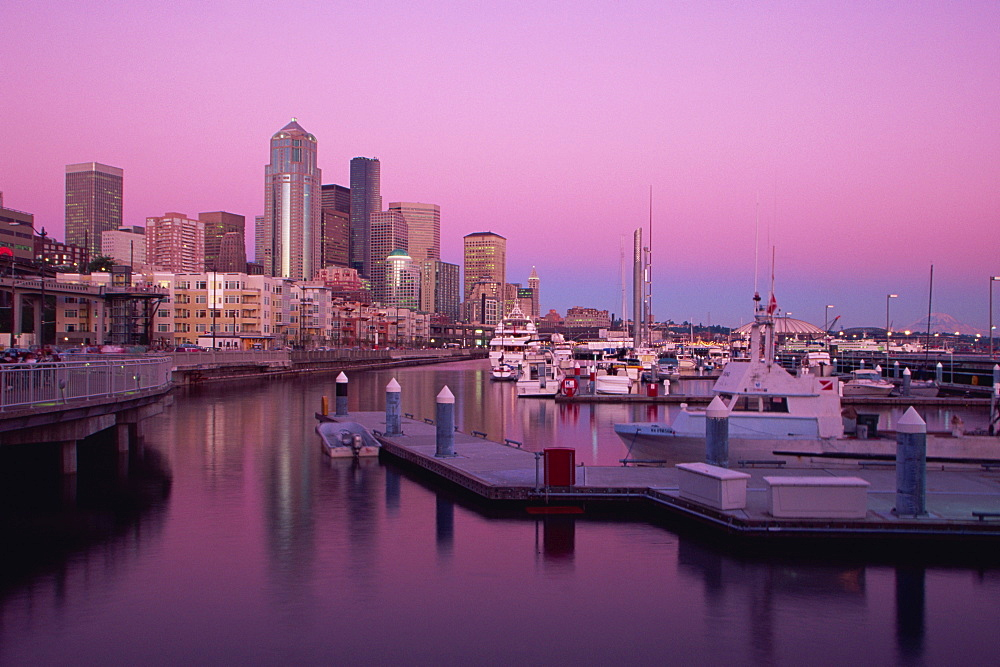 Bell Harbor Marina, Seattle, Washington state, United States of America, North America
