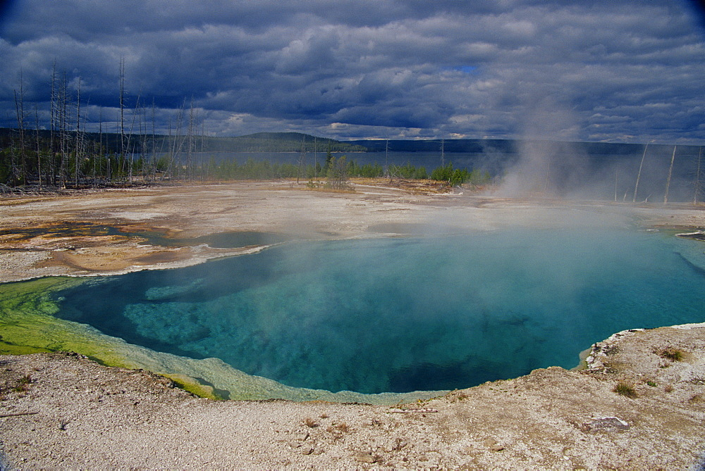Abyss Pool, West Thumb Geyser Basin, Yellowstone National Park, UNESCO World Heritage Site, Wyoming, United States of America, North America