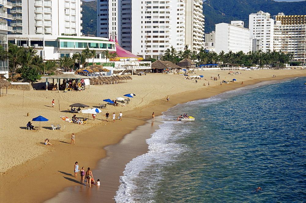 Hotels, El Morro Beach, Acapulco Bay, Guerrero State, Mexico, North America