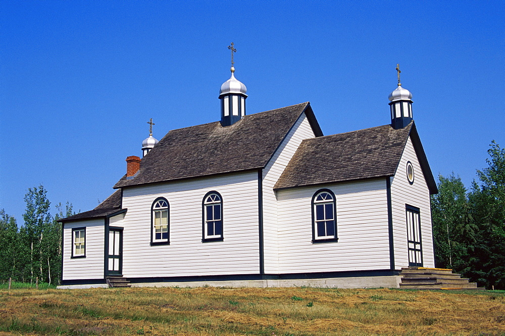 St. Nicholas church, Ukrainian Heritage Village, Greater Edmonton area, Alberta, Canada, North America