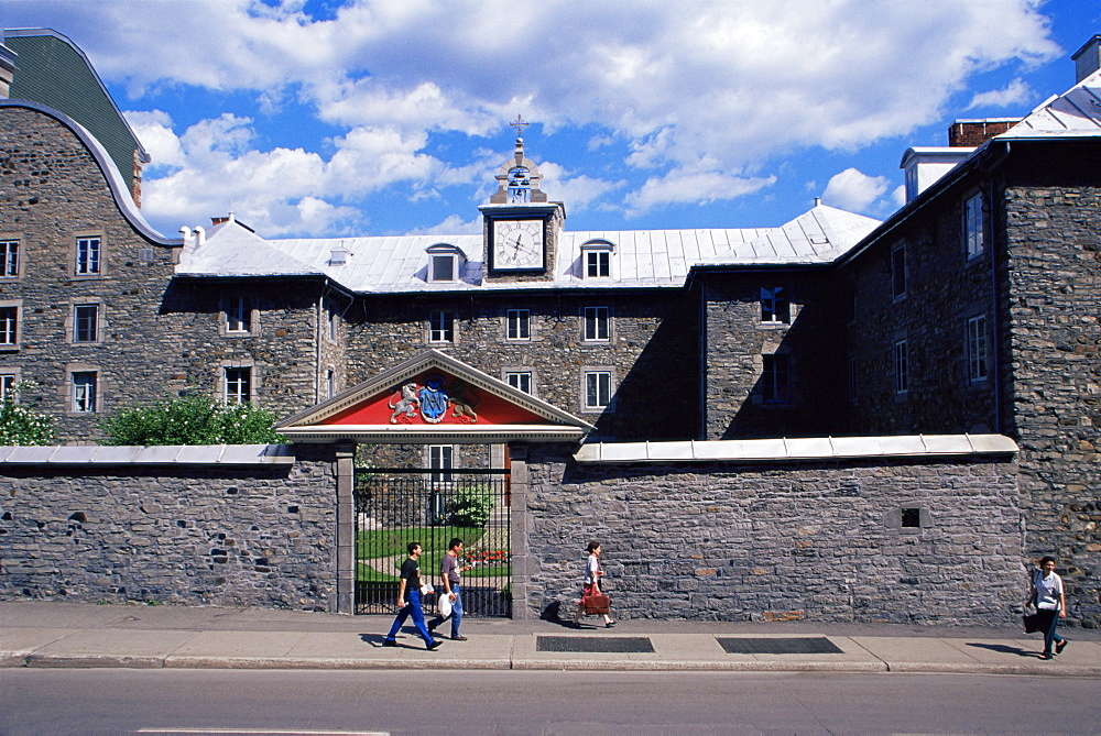 Saint-Sulpice seminary dating from 1864, Montreal's oldest building, Old Town, Montreal, Quebec state, Canada, North America