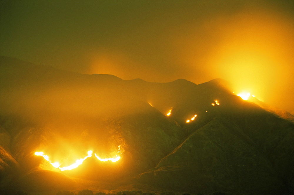 Wildfire, San Jacinto Mountains, southern California, United States of America, North America