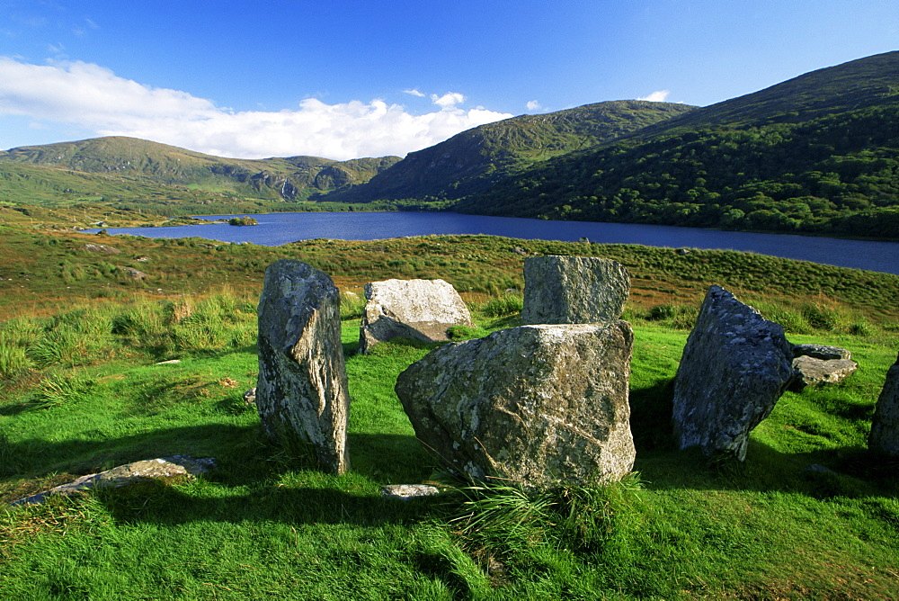 Uragh Stone Circle, Cloonee Lakes, County Kerry, Munster, Republic of Ireland, Europe