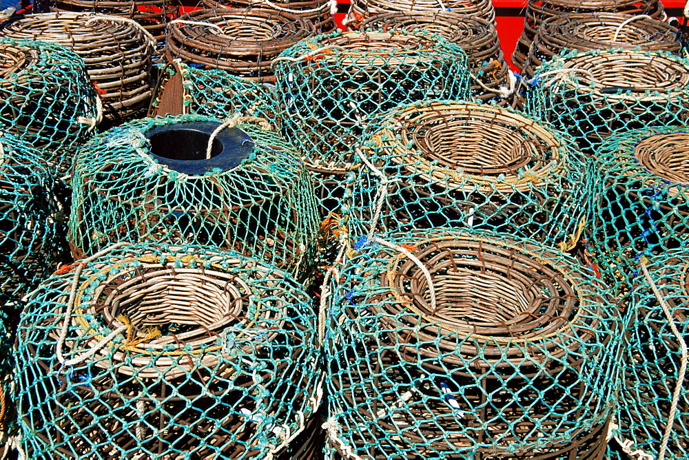 Lobster pots, Hobart City Docks, Hobart, Tasmania, Australia, Pacific