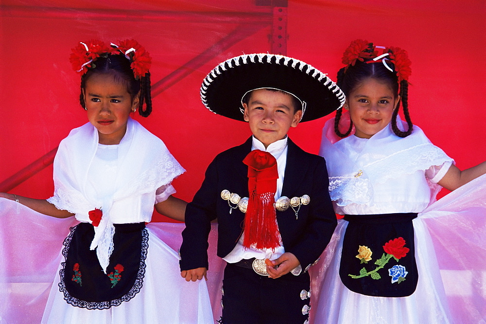 Mexican children, Cinco de Mayo festival, Old Town, San Diego State Historic Park, California, United States of America, North America - 777-973