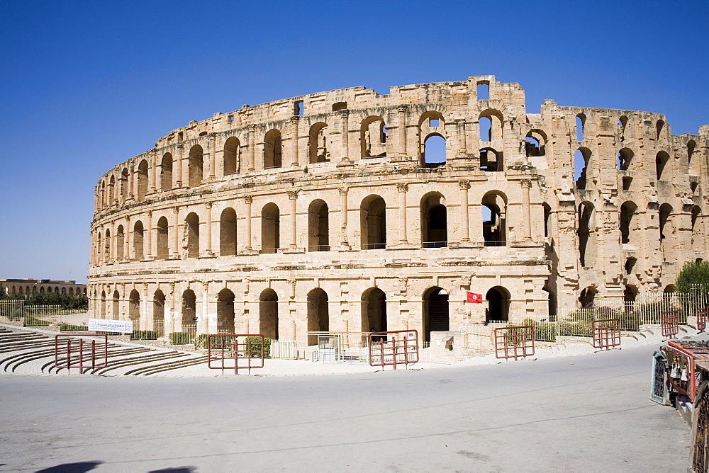 Amphitheatre, El Jem (El Djem), UNESCO World Heritage Site, Tunisia, North Africa, Africa