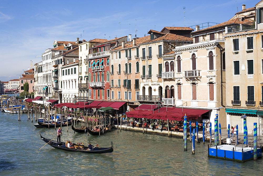 Gondola, Grand Canal, Venice, UNESCO World Heritage Site, Veneto, Italy, Europe - 783-110