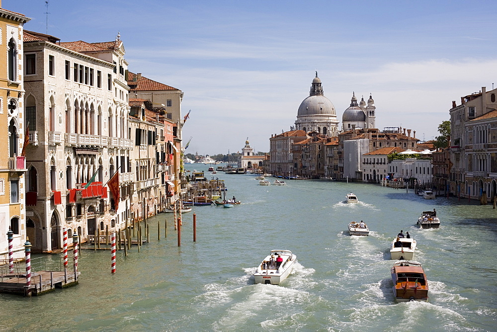 Grand Canal and Santa Maria in distance, Venice, UNESCO World Heritage Site, Veneto, Italy, Europe - 783-111