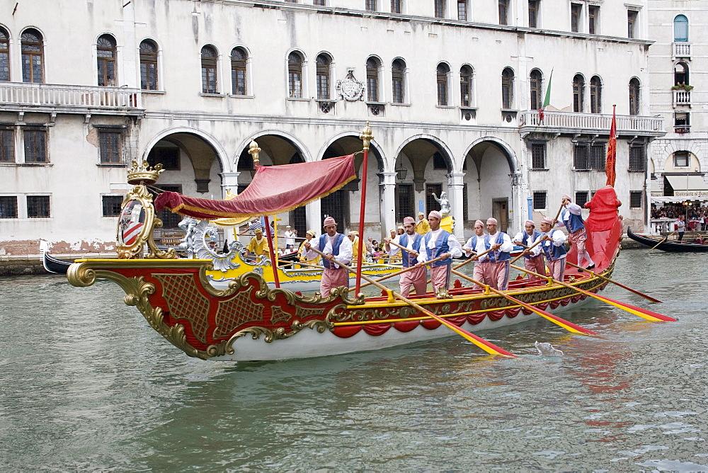 Regatta, Grand Canal, Venice, UNESCO World Heritage Site, Veneto, Italy, Europe - 783-114