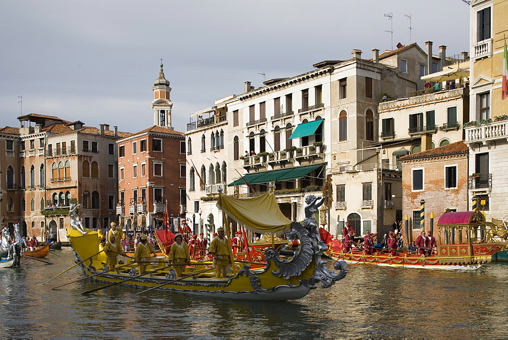 Regatta, Grand Canal, Venice, UNESCO World Heritage Site, Veneto, Italy, Europe - 783-115