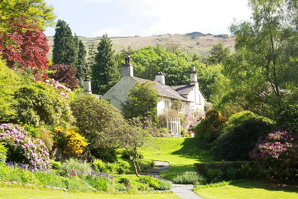 Wordsworth's home, Rydal Mount, Rydal, Lake District National Park, UNESCO World Heritage Site, Cumbria, England, United Kingdom, Europe