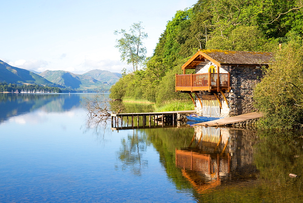 Duke of Portland Boathouse, Ullswater, Pooley Bridge, Lake District, UNESCO World Heritage Site, Cumbria, England, United Kingdom, Europe