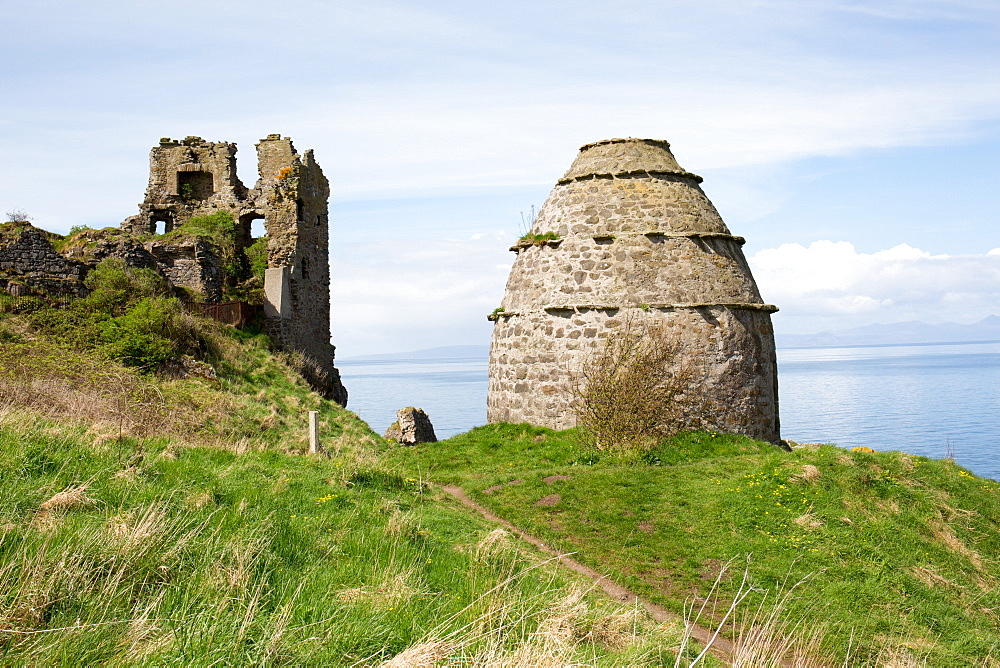 Dovecot and Dunure Castle, Ayrshire, Scotland, United Kingdom, Europe
