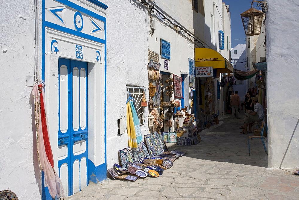 Street in the Medina, Hammamet, Tunisia, North Africa, Africa - 783-2