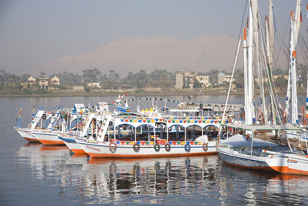 Tourist boats, Luxor, Egypt, North Africa, Africa - 783-22