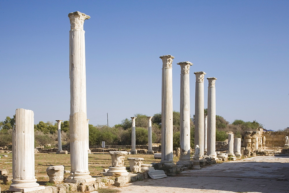 The archaeological site of Salamis, Salamis, North Cyprus, Europe